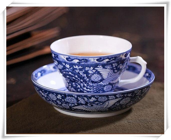 Ceramic Coffee Mug And Saucer Bone China Teacup And Saucer