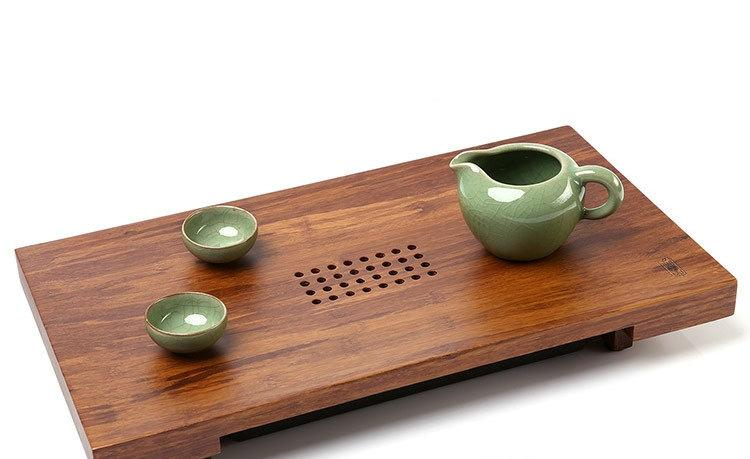 Bamboo Tea Tray Displaying And Serveing Tea Tea Tray Handicraft Chinese Congou Tea Setchinese Teaism Practice.