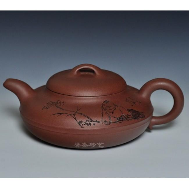 Yixing Teapot Zi Ni Clay Big Xian Yuan 550ml