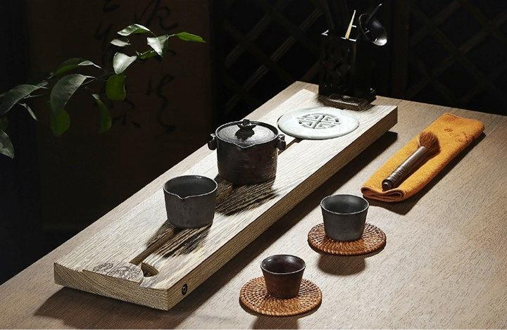 Wenge Tea Tray Displaying And Serveing Tea Tea Tray Handicraft Chinese Kung-Fu Tea Setchinese Teaism Practice.