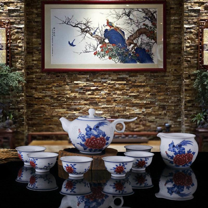 Traditional Chinese Wedding Tea Set Handmade Porcelain Teaset Beautiful Tea Set China