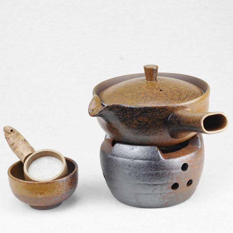 A Complete Set Of Handmade Crude Ceramic Tea Wares Handmade And Hand-Drawing Rude Ceramic Tea Setbrewing Pu-Erhtea Ware