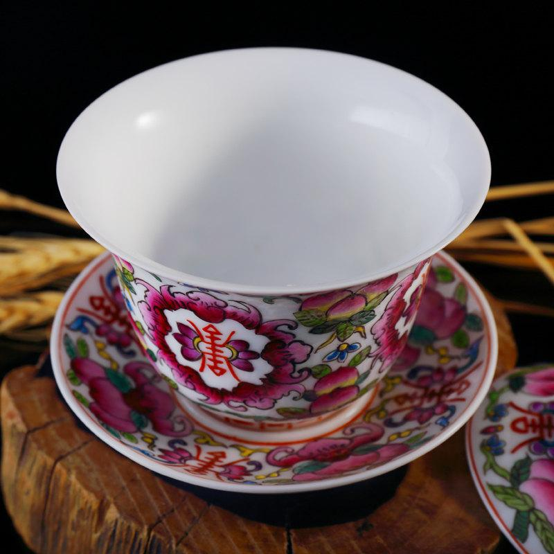 Special Offer Tea Bowl Ceramic Gaiwan Handmade Craft Cup And Saucer Collectible Chinese Teacup Saucer