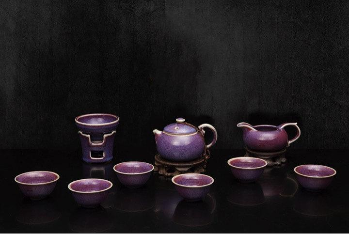 A Complete Set Of Portable Jun Porcelain Tea Sets Premium And Treasure Tea Potexperence China Tea Ceremony