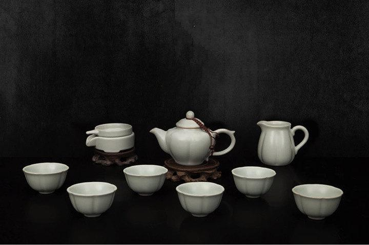 A Complete Set Of Portable Ru Porcelain Tea Sets Premium And Treasure Tea Potexperence China Tea Ceremony