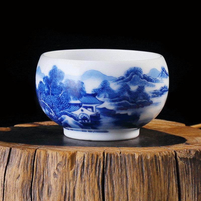 Collectible Porcelain Tea Cup China Tea Cup Ceramic Tea Cup Giftware With Hand Painted Traditional Chinese Realistic Painting Landscape
