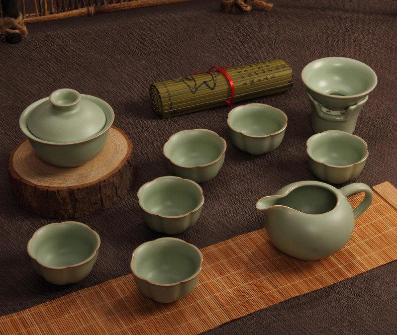 A Complete Set Of Portable Ru Porcelain Clay Tea Wares Premium And Treasure Tea Potexperence China Tea Ceremony