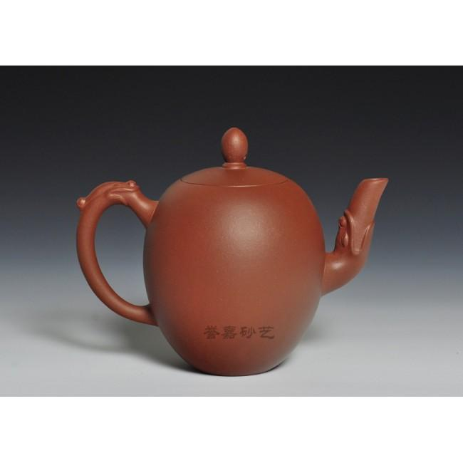 Yixing Teapot Di Cao Qing Double Dragon Play One Ball 280ml