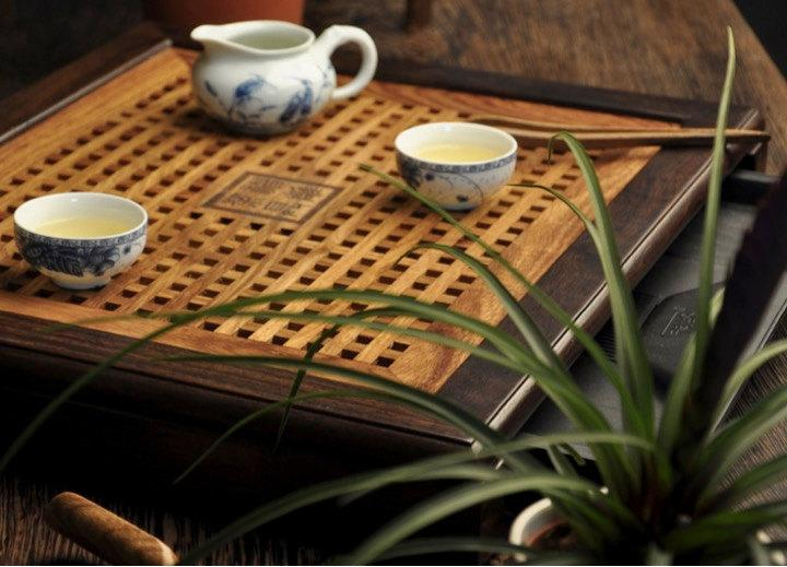 Ebony Wood Tea And Rosewood Tray Displaying And Serveing Tea Tea Tray Handicraft Chinese Kung-Fu Tea Setchinese Teaism Practice.
