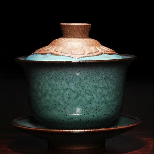 Ceramic Handmade Gai Wan And Tea Cup Chinese Antique Ceramics Porcelains)One Of Five Famous Porcelain Kilns In The Song Dynasty
