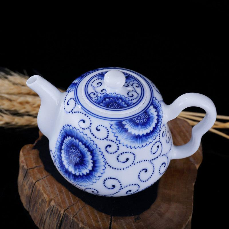Chinese Gongfu Tea Set Porcelain Tea Service Hand Painted Teapot With Cups