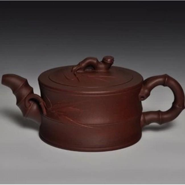 Yi Xing Teapot Zi Ni Clay Bamboo Section 280ml