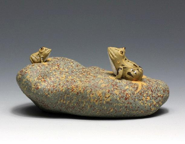 Frog;Chinese Gongfu Tea Set Yixing Pottery Handmade Zisha Tea Setguaranteed 100%Genuine Original Mineral Fired