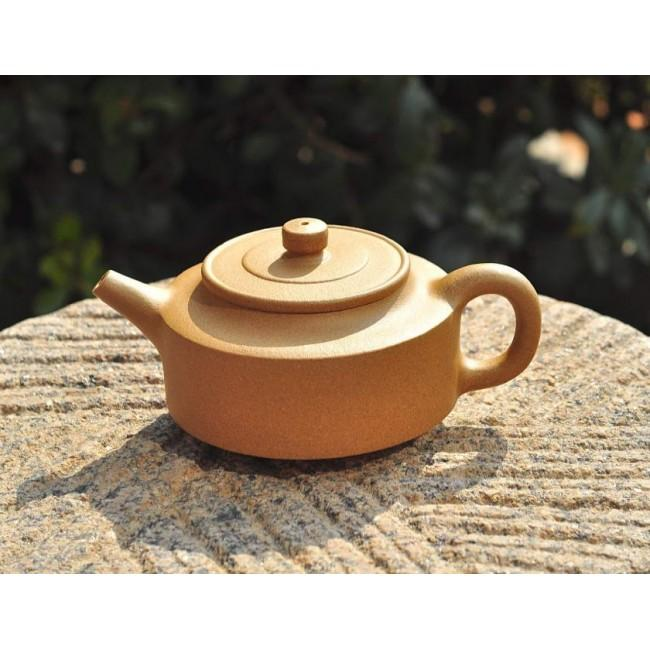 Yixing Teapot Golden Duan Ni Clay Zhou Pan 170ml