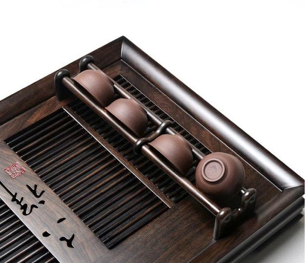 Ebony Wood Tea Tray Displaying And Serveing Tea Tea Tray Handicraft Chinese Kung-Fu Tea Setchinese Teaism Practice.
