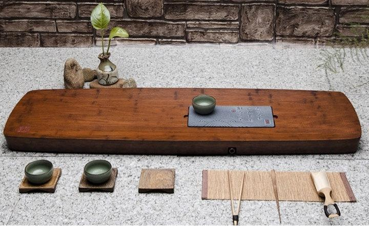 Bamboo Tea Tray Displaying And Serveing Tea Tea Tray Handicraft Chinese Kung-Fu Tea Setchinese Teaism Practice.