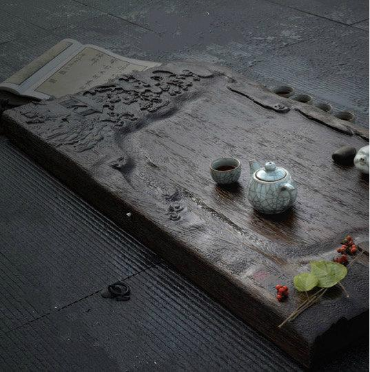 Solid Wood Huge Tea Tray Displaying And Serveing Tea Tea Tray Handicraft Chinese Congou Tea Setchinese Teaism Practice.