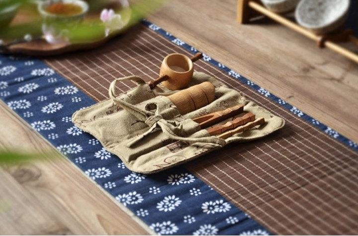 Chinese Gong Fu Tea Ceremony Tea Ware:Liu Jun Zi Tea Table Mat And Tea Cup Mat;Ware Accessory