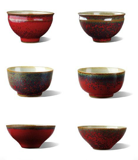 A Complete Set Of Red Glaze Teacupchinese Style Ceramic Teaware Jingdezhen Porcelain Tea Set