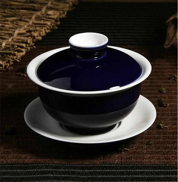 Pigmented Gaiwan Porcelain Gift Cup China Cup Sacuer Collectible Teacup Porcelain