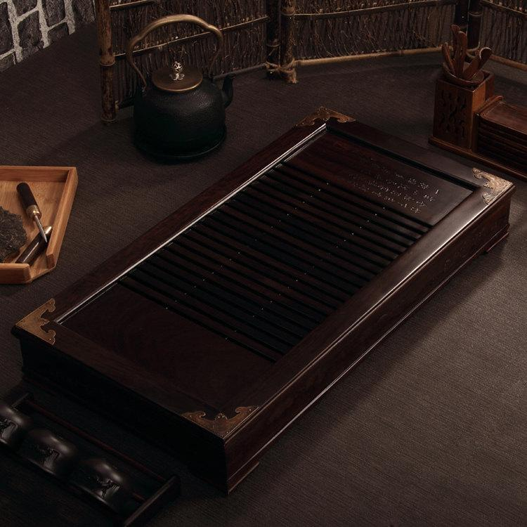 Macassar Ebony Tea Tray Displaying And Serveing Tea Tea Tray Handicraft Chinese Kung-Fu Tea Setchinese Teaism Practice.
