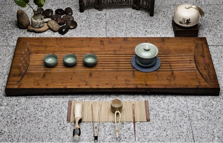 Weight Bamboo Tea Tray Displaying And Serveing Tea Tea Tray Handicraft Chinese Kung-Fu Tea Setchinese Teaism Practice