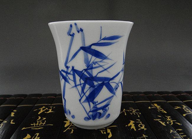 Porcelain Tea Cup Ceramic Tea Cup China Tea Cup Blue And White Tea Cup