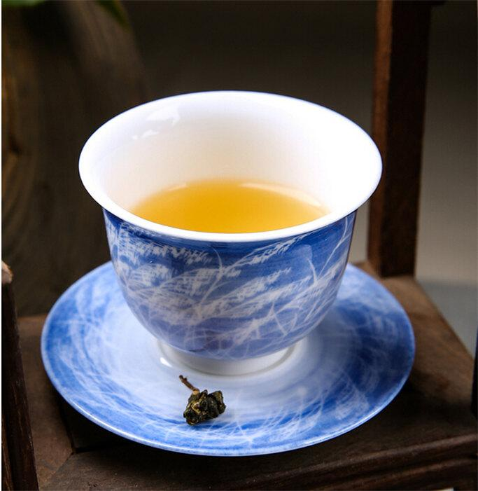 Chinese Porcelain Tea Cup And Saucer Perfect Drinkware For Tea Ceramic Gift China Craft