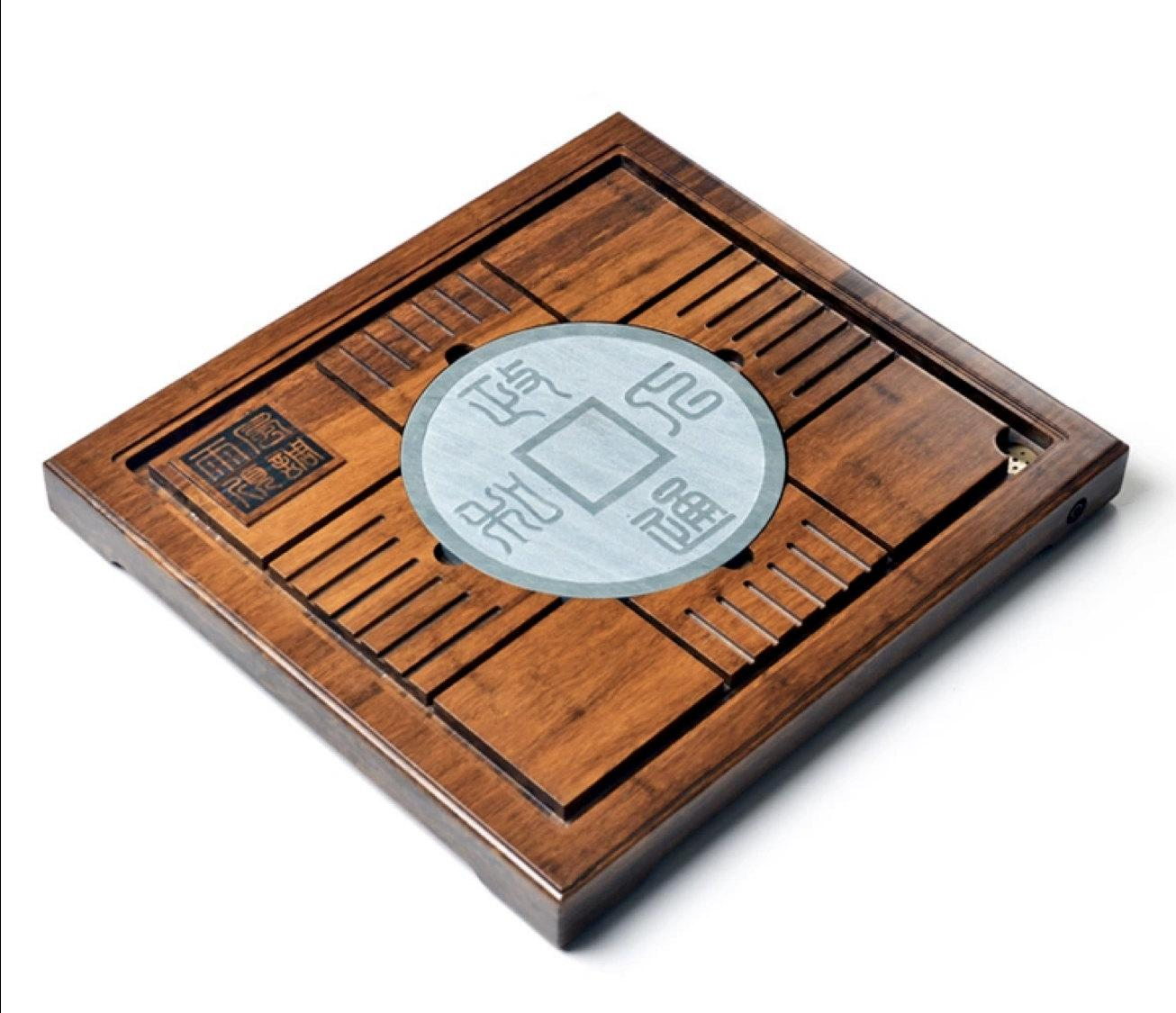 Weight Bamboo And Black Stone Tea Tray Displaying And Serveing Tea Tea Tray Handicraft Chinese Congou Tea Setchinese Teaism Practice.