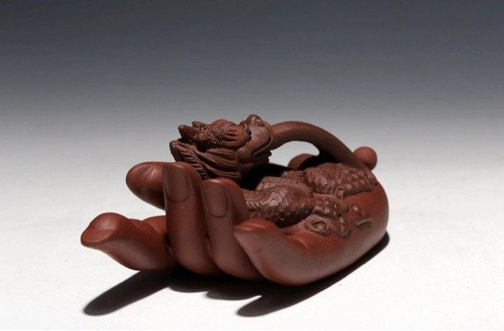 Dragon Hand;Chinese Gongfu Tea Set Yixing Pottery Handmade Zisha Tea Setguaranteed 100%Genuine Original Mineral Fired