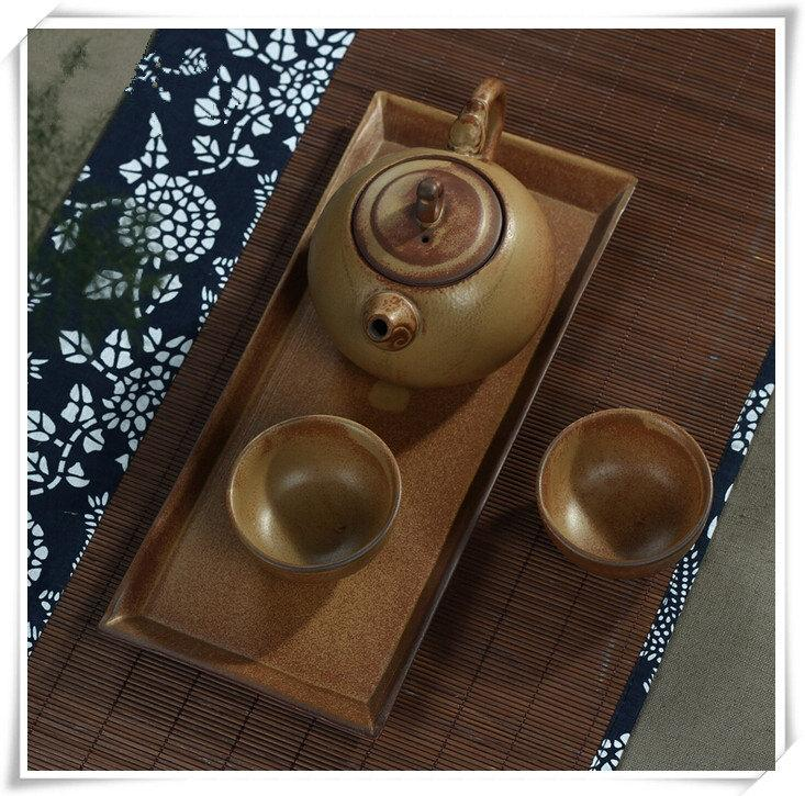 Handmade Pottery Tea Set With Tray Clay Teapot With Cups Perfect Anniversary Gift Asian Tea Set