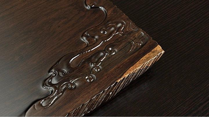 Ebony Wood Tea Tray Displaying And Serveing Tea Tea Tray Handicraft Chinese Kung-Fu Tea Setchinese Teaism Practice