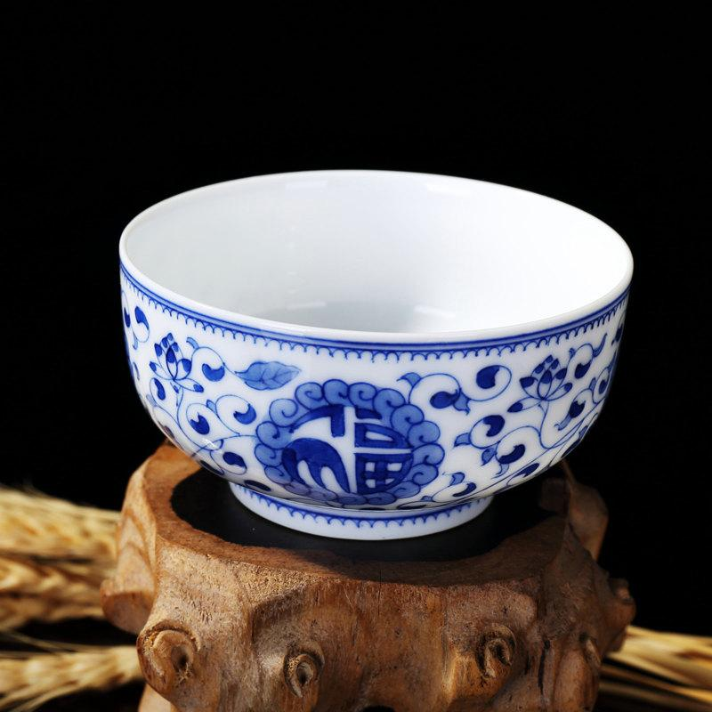 Blue And White Porcelain Tea Cup Chinese Birthday Gift Cup Cearmics Porcelain Cup For Tea
