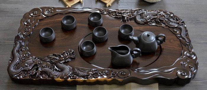 Big Ebony Wood Huge Tea Tray Displaying And Serveing Tea Tea Tray Handicraft Chinese Kung-Fu Tea Setchinese Teaism Practice.
