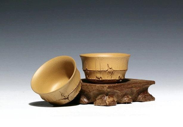 4 Hand-Made Zisha Clay Tea Cup Yixing Pottery Handmade Zisha Clay Teapotguaranteed 100%Genuine Original Mineral Fired