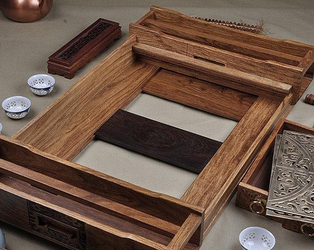 Rosewood And Ebony Tea Tray Displaying And Serveing Tea Tea Tray Handicraft Chinese Congou Tea Setchinese Teaism Practice.