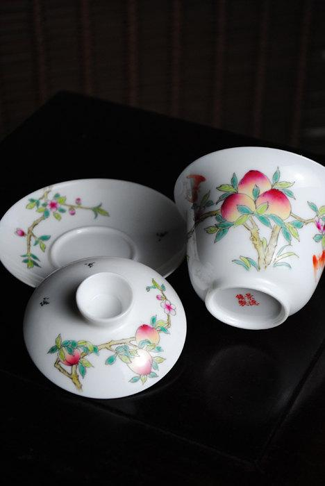 1 Hand-Painting Famille Rose Porcelain Gaiwan/Tea Bowlschinese Famille Rose Porcelain Porcelain Tea Setchinese Style Ceramic Teaware